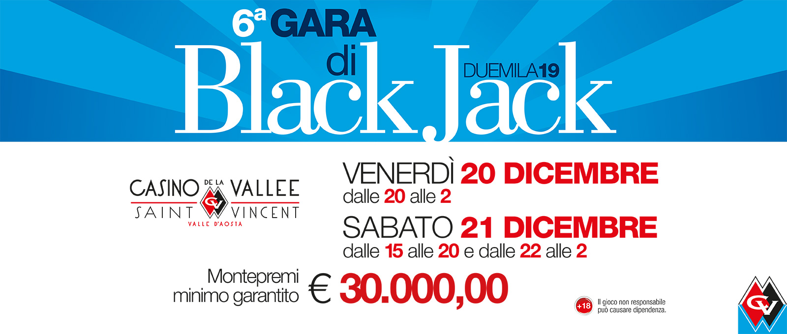 Sesta Gara di Black Jack